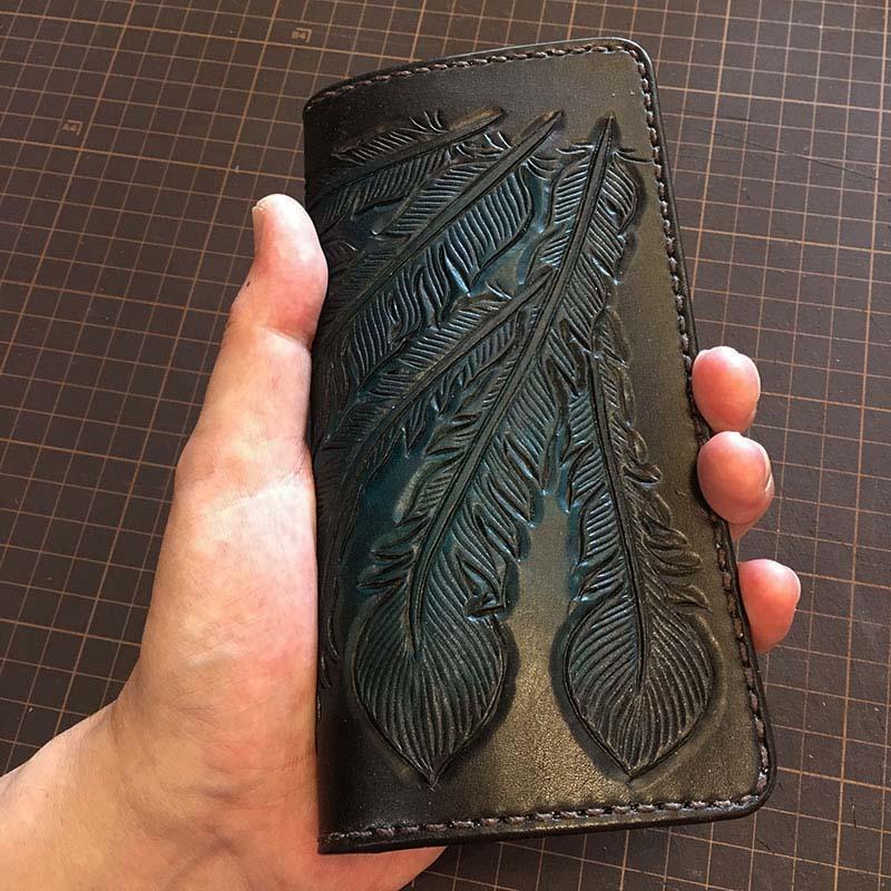 ウォレット カービング 長財布
